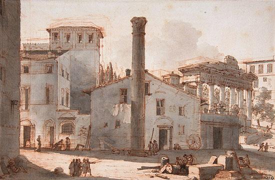 Veduta-foro-romano-colonna-di-foca-victor-jean-nicolle
