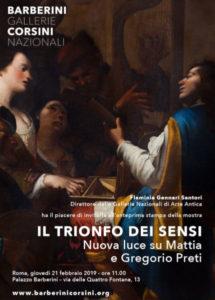 Il trionfo dei sensi Nuova luce su Mattia e Gregorio Preti